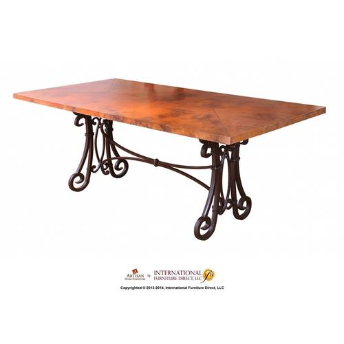 Iron Table Base - Black Color - KD System