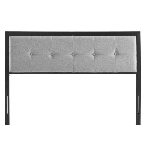 Modway - Teagan Tufted Twin Headboard in Black Light Gray