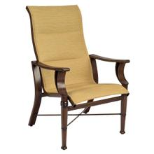 See Details - Arkadia Padded Sling High-Back Dining Armchair