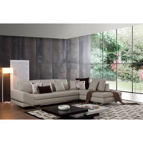 Divani Casa FF536 Modern Leather Sectional Sofa w/ Audio System