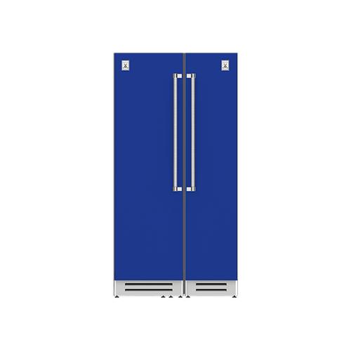 "Hestan - 42"" Column Refrigerator (L) and Freezer ® Ensemble Refrigeration Suite - Prince"