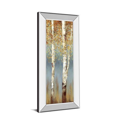 """Butterscotch Birch Trees Il"" By Allison Pearce Mirror Framed Print Wall Art"