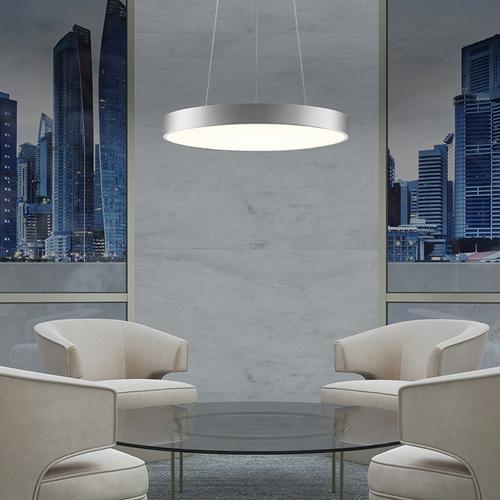 "Sonneman - A Way of Light - Pi LED Pendant [Size=16"", Color/Finish=Bright Satin Aluminum]"