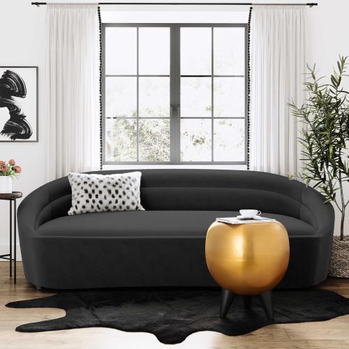 Tov Furniture - Ellison Black Velvet Sofa