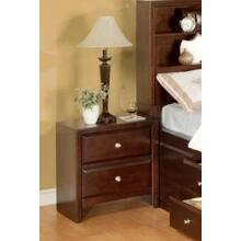 Calvino Solid Wood Construction Fully Assembled Night Stand Merlot Finish