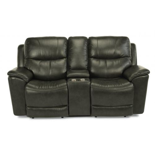 Cade Power Reclining Loveseat with Console & Power Headrests & Lumbar