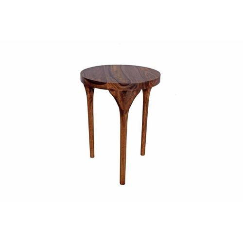 Sheesham Accents Harvest Round End Table, FC-006