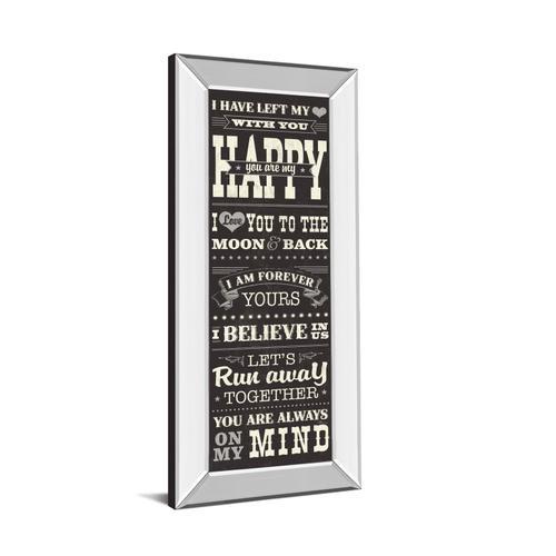 """L-O-V-E Il"" By Pela Studio Mirror Framed Print Wall Art"