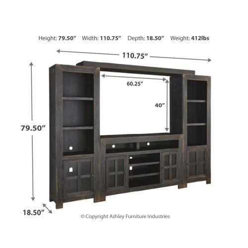 Gavelston 4-piece Entertainment Center