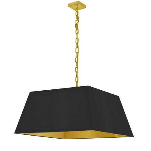 Product Image - 1lt Milano Large Pendant, Blk/gld Shade, Agb