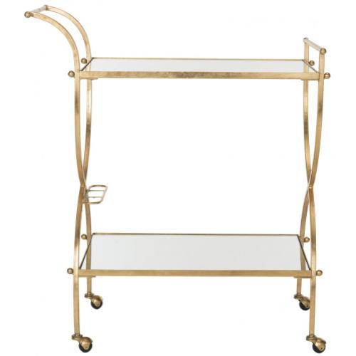 Lucretius Bar Cart - Gold