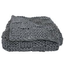 Hand Knitted Chess Throw, 50x60 (4 Colors) - Slate
