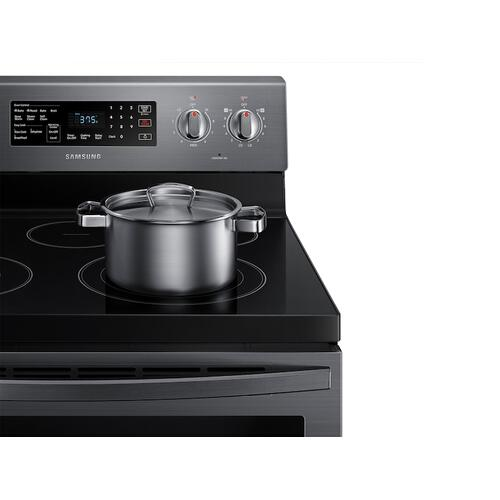 5.9 cu. ft. Freestanding Electric Range with Air Fry and Convection in Black Stainless Steel