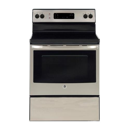 Freestanding Smooth Top Electric Range 30 in Stainless Steel GE - JCBS630SKSS