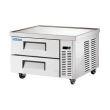 """See Details - 36"""" Stainless Steel Chef Base Refrigerator"""