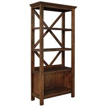 Baldridge Large Bookcase Rustic Brown