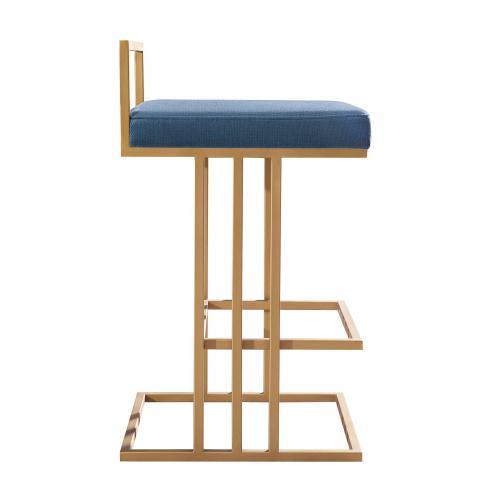 Tov Furniture - Trevi Slub Blue Counter Stool