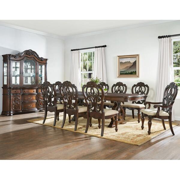 See Details - Royale 9 Piece Set(Table, 2 Arm Chairs & 6 Side Chairs)