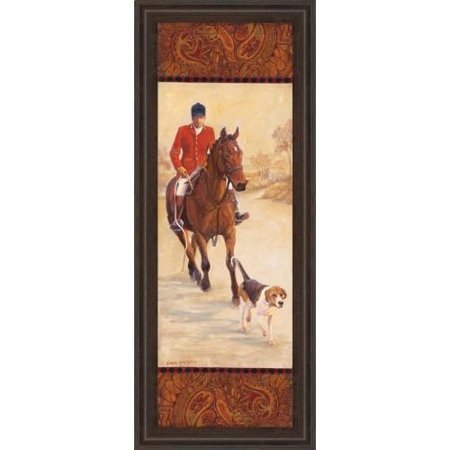 "Classy Art - ""On The Hunt I"" By Linda Wacaster Framed Print Wall Art"