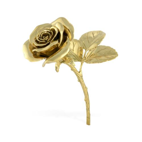 Polished Brass Blooming Rose