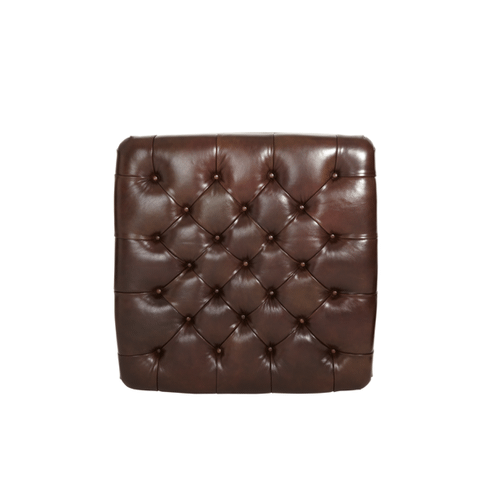 Leather Cocktail Ottoman - Opt1