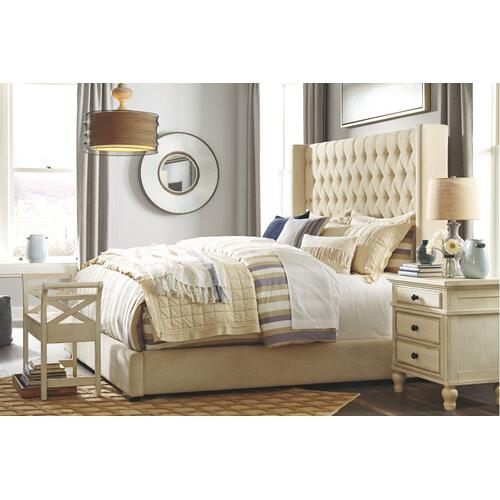Norrister Queen Upholstered Bed With 1 Large Storage Drawer