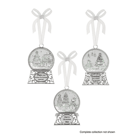 Snow Globe Greetings Ornaments (48 pc. ppk.)