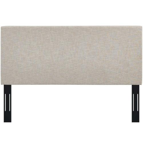 Taylor Full / Queen Upholstered Linen Fabric Headboard in Beige