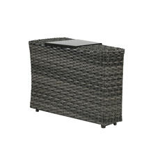 View Product - Portfino Wedge End Table w/Aluminium Tray