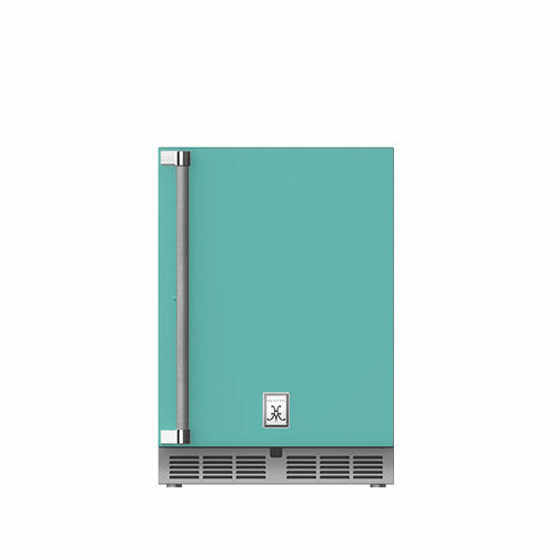 "24"" Hestan Outdoor Dual Zone Refrigerator with Wine Storage (Solid Door) - GRWS Series - Bora-bora"