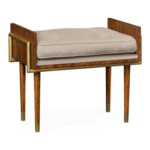 Contemporary stool with Mazo Fabric