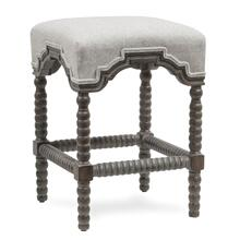 INWOOD COUNTER STOOL  Waldo Beach Tweed Fabric on Weathered Gray Finish Hardwood Frame