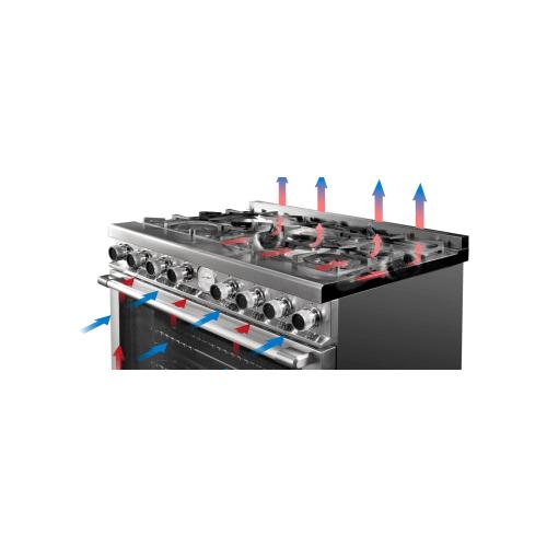 "Superiore - Range LA CUCINA 36"" Classic Stellar Finishing Olive 5 gas, gas oven"