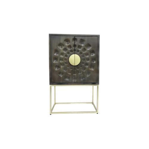 Porter International Designs - Solara 2 Door Cabinet, 2580TN
