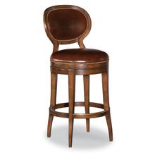 Oval Back Armless Swivel Counter Stool