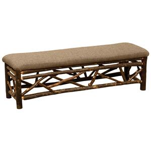 Twig Bench - 72-inch - Cognac - Wood seat