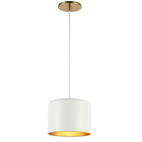 Product Image - 1lt Incand Pendant, Agb W/ Mw&gld Shade