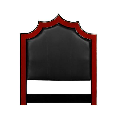 Emperor headboard, Cali King in black leather