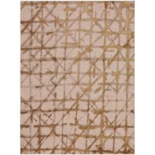 "Enigma Contact Brushed Gold 2' 4""x7' 10"" Runner"