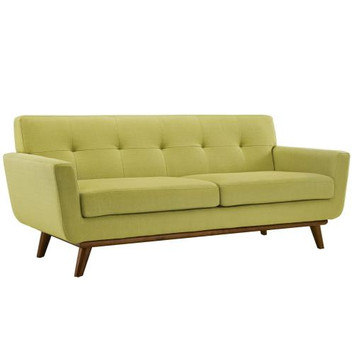 Engage Sofa Loveseat and Armchair Set of 3 in Wheatgrass
