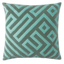 Maze Pillow, JADE, 22X22