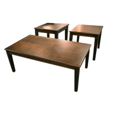 Mocha Coffee & End Table Set