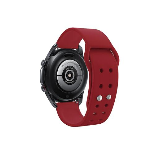 Quick Change Silicone Sport Watch Band (22mm) Crimson Red