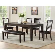 Ally 6 Piece Set(Table, Bench & 4 Side Chairs)