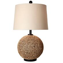 View Product - Woven Natural Rattan Ball Table Lamp