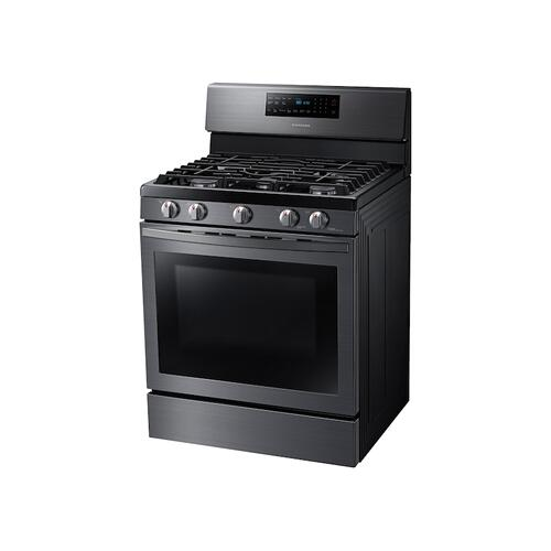 5.8 cu. ft. Freestanding Gas Range with Air Fry and Convection in Black Stainless Steel