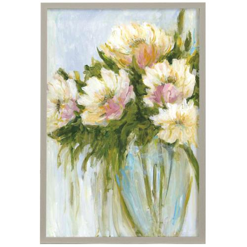 Style Craft - I'm Blushing  Made in USA  Artist Print  Faux Wood Frame Under Glass  Attached Hanging Hardware