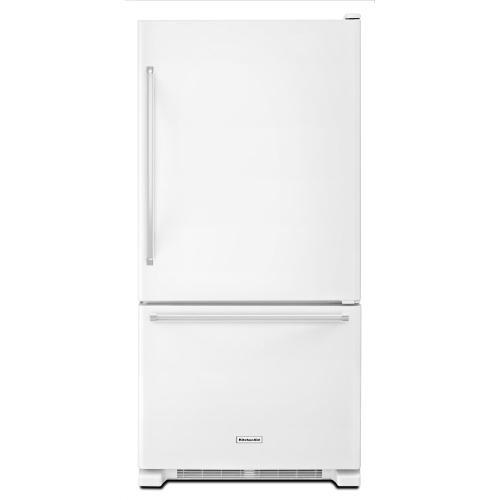 KitchenAid - 19 cu. ft. 30-Inch Width Full Depth Non Dispense Bottom Mount Refrigerator - White