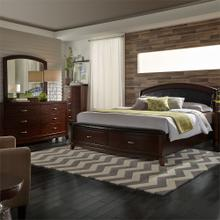 Queen Storage Bed, Dresser & Mirror