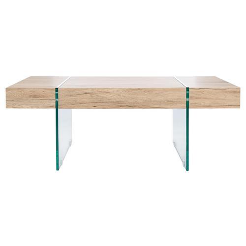 Safavieh - Jacob Rectangular Glass Leg Modern Coffee Table - Natural